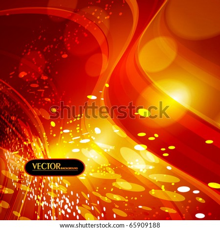Christmas night. Bright vector background - stock vector