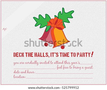 Christmas office party gala event invite stock vector 525799912 christmas office party gala event invite stopboris Image collections