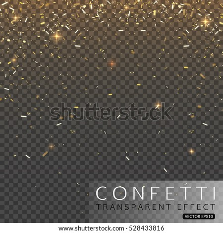 Christmas or Happy New Year Confetti vector illustration