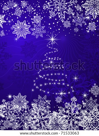 Christmas or new year background for design. Jpeg version also available in gallery - stock vector