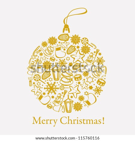 christmas ornament - stock vector