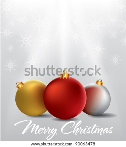 christmas ornament background 2 - stock vector