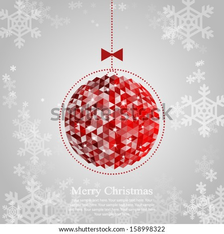 Christmas ornament. Vector illustration for your design. - stock vector