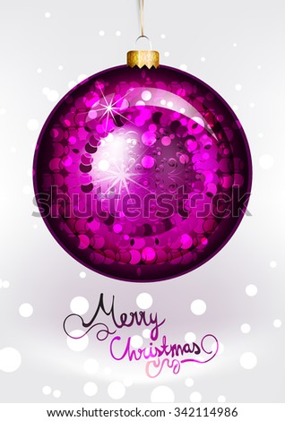 Christmas Ornament. Vector Illustration. Merry Christmas - stock vector