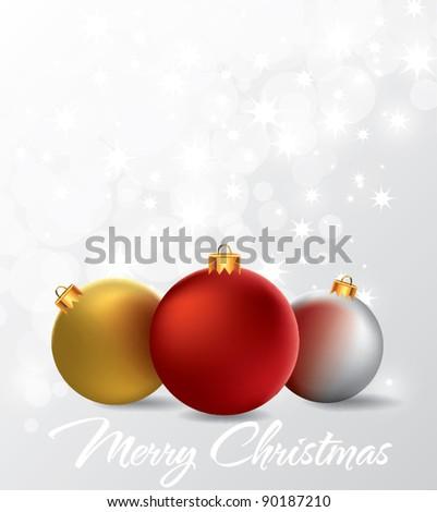 Christmas Ornaments - stock vector