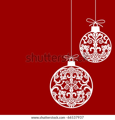 Christmas ornaments balls - stock vector