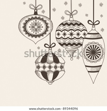 Christmas ornaments doodles