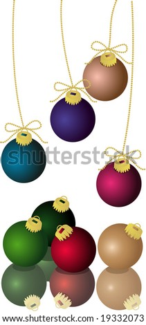 Christmas Ornaments Easy Color Change Vector Stock Vector 19332073