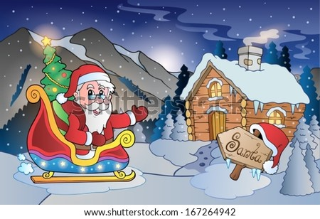 Christmas outdoor theme 8 - eps10 vector illustration. - stock vector