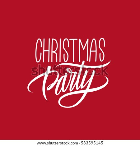 Christmas party calligraphic lettering design card stock vector christmas party calligraphic lettering design card stock vector 533595145 shutterstock m4hsunfo
