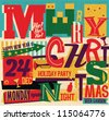 Christmas Party card - stock vector