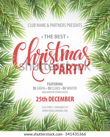 Christmas party design template vector illustration eps10 stock