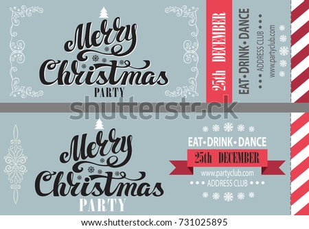 christmas party ticket template
