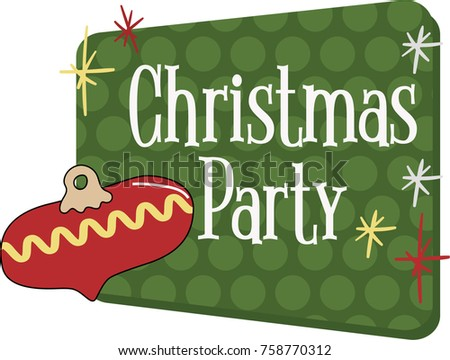 Christmas party invitation vector graphic vintage stock vector hd christmas party invitation vector graphic in a vintage retro 1950s or 1960s style traditional stopboris Choice Image