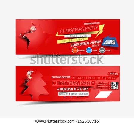 Christmas Party Web Banner Template  - stock vector