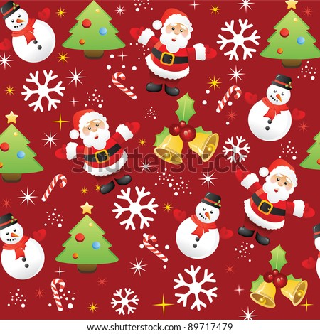Christmas pattern background - stock vector