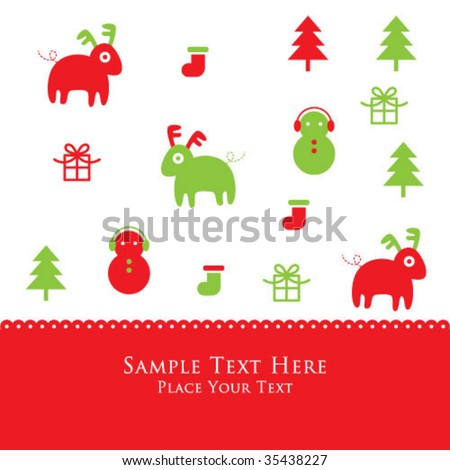 christmas pattern card