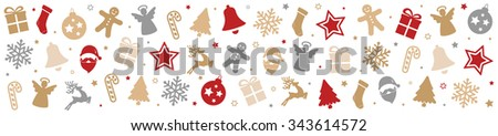 christmas pattern decoration elements background - stock vector