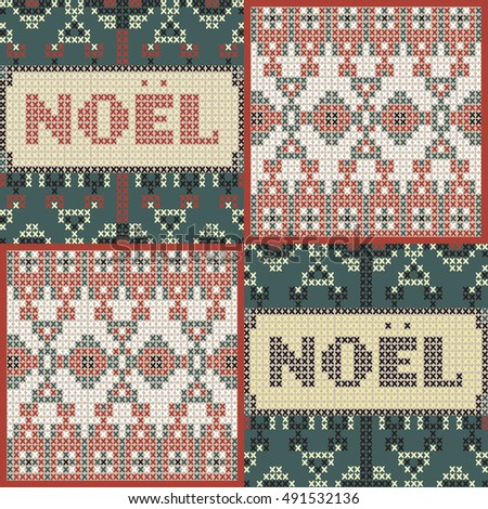 Christmas pattern, Noel poster template. Very detailed, in tapestry style vector illustration.vector artwork. Corporate identity design.
