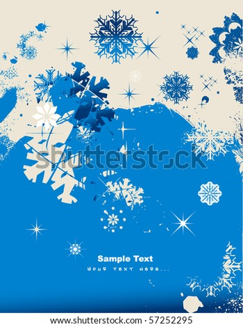 christmas pattern snowflake background - stock vector