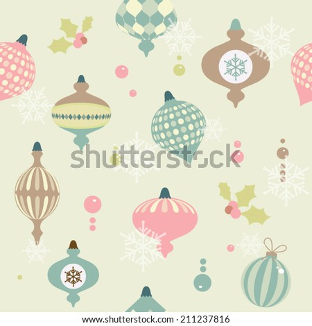 Christmas pattern. Vector illustration