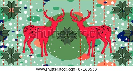 Christmas pattern with deers