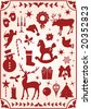 christmas patterns - stock photo