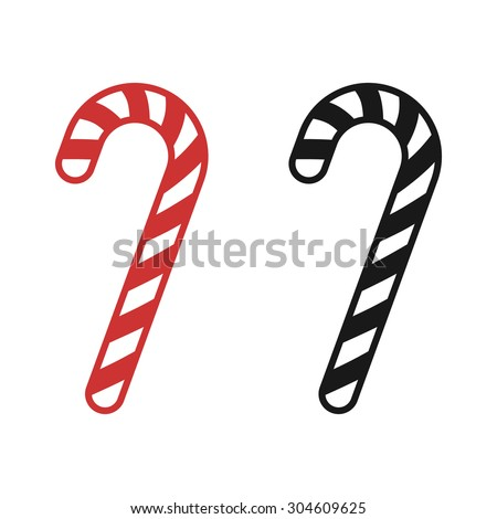 christmas peppermint candy cane stripes flat stock vector 304609625 rh shutterstock com candy cane vector image candy cane vector free download