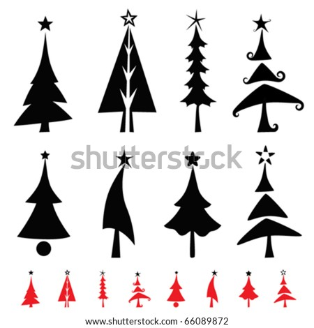 christmas pine tree - stock vector