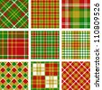 Christmas plaid patterns - stock