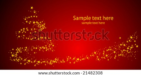 Christmas postcard - stock vector