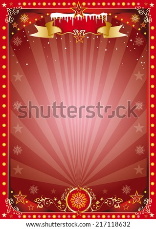 christmas poster.  Merry christmas and happy new year. A poster on the christmas theme for your... Enjoy - stock vector