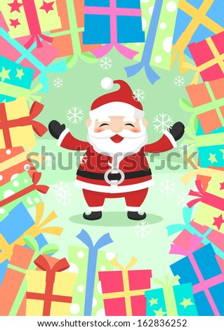 Christmas present - stock vector