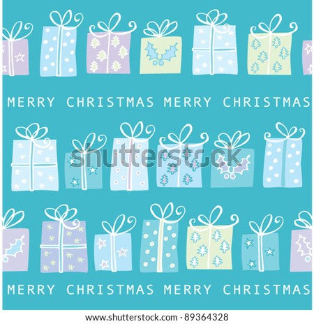 Christmas presents seamless vector