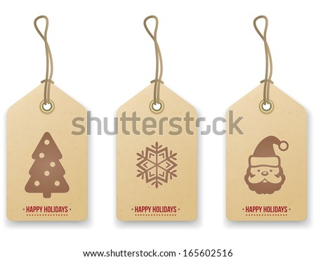 Christmas price tag. Vector - stock vector
