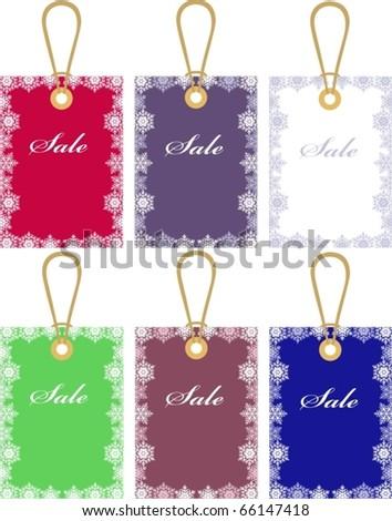 Christmas price tags - stock vector