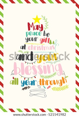 Christmas Quote. May Peace Be Your Gift At Christmas And Your Blessing All  Year Through