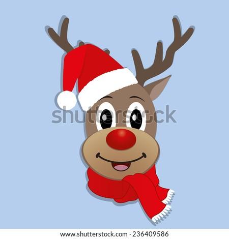 Christmas Reindeer - stock vector