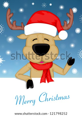 Christmas Reindeer eps10 - stock vector