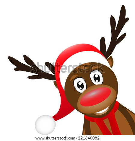 Christmas reindeer on a white background  - stock vector
