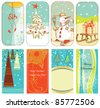 Christmas retro backgrounds - stock vector
