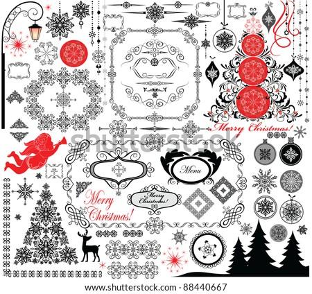 Christmas retro design - stock vector