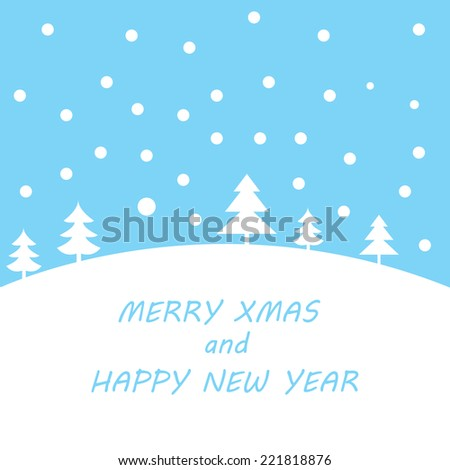 Christmas retro greeting card and background - stock vector