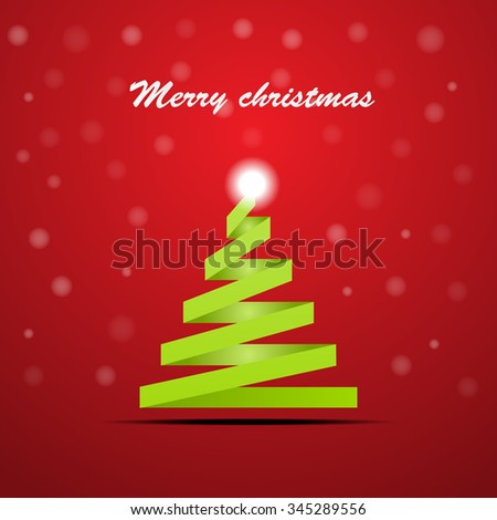 christmas ribbon tree - stock vector
