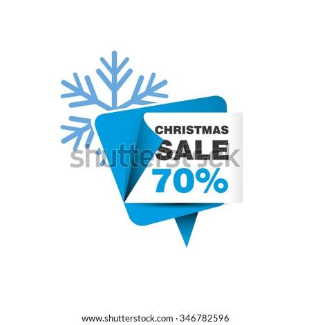 Christmas sale 70% - stock vector