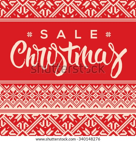Christmas sale background, promotional poster for Christmas sale, vector illustration. - stock vector