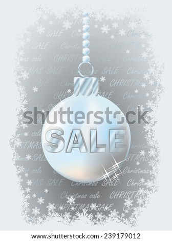Christmas sale banner, vector illustration - stock vector