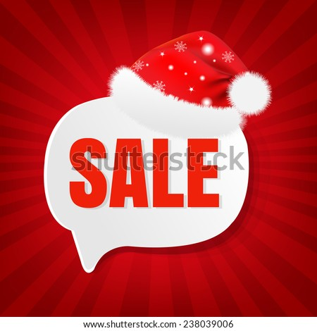 Christmas Sale Banner With Gradient Mesh, Vector Illustration - stock vector