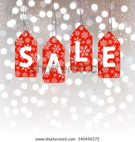 Christmas sale concept for Your design - stock vector