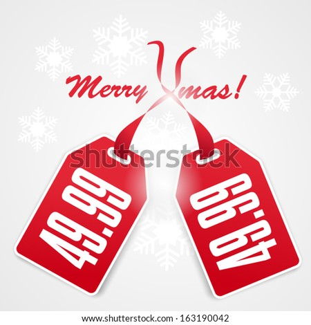 Christmas Sale Design - stock vector